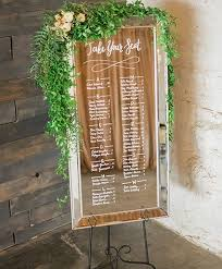 Seating Chart Beveled Mirror 2x4 5 In 2019 Wedding