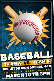 Baseball Brochure Template Baseball Flyer Template Magdalene Project Org