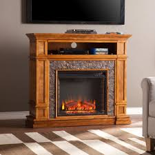 southern enterprises ethan 45 in simulated stone media center electric fireplace tv stand in faux