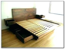 High Platform Bed With Storage Tall Frame Queen Best For Small ...