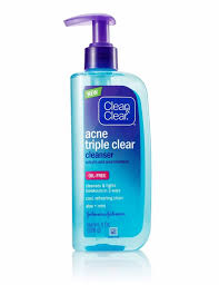 clean clear acne triple clear cleanser