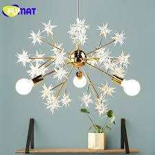 star light fixture gold plated metal spark ball pendant lamps art star light fixtures study dinning