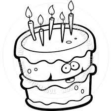 wedding cake clipart black and white. Contemporary Cake Happy Birthday Black And White Clipart  Kid Png Freeuse Download For Wedding Cake