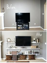 luxury floating tv stand diy alternative to medium console like itfloating glass shelf for entertainment center