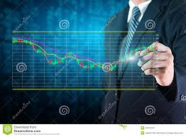 Stock Market Charts And Graphs Businessman Analyze Stock Market Charts Stock Illustration