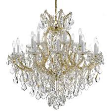 crystorama maria theresa 19 light swarovski strass crystal gold chandelier view larger image