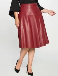 faux leather midi skirt