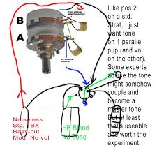 wiring a tone to just one of 2 pickups no switch telecaster here s 2 diagrams of where i m at the 1st pic is my successful humbucker blend i do get some grounding static from the bucker though even vol at