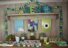 Fabulous Monster Party Ideas On Monsters Inc Birthday Party Decorations  Banner Favor Bags