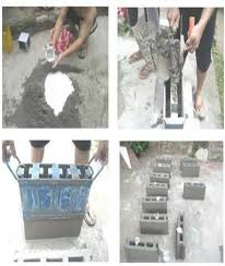 making of concrete hollow blocks with sieved recycled flat window glass