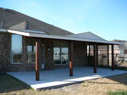wood patio covers. Cement Patio - Cedar Wood Cover With Posts Harper Construction TX Covers D