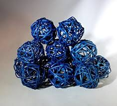 Decorative Sphere Balls Amazon 100 Packages Decorative Spheres of 100 Blue Rattan Ball 77