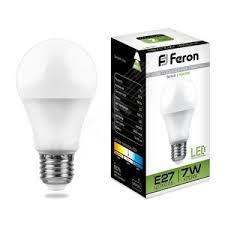 <b>Лампа светодиодная LED 7вт</b> Е27 белая (LB-91) <b>FERON</b> купить ...