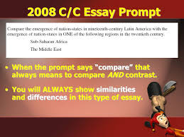 writing a ldquo killer rdquo compare contrast essay ppt video online 2008 c c essay prompt when the prompt says compare that always means to compare