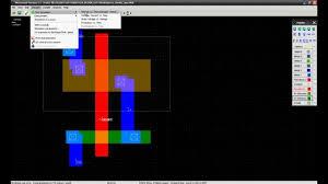 Inverter Layout Design Cmos Inverter Layout In Microwind