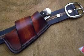 custom leather pocket knife case sidewinder med no snap case14