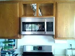 over the range cabinet. Beautiful Range Over Stove Microwave Above Cabinet How To Install The Range  Without A And Over The Range Cabinet