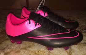 nike mercurial vapor x leather fg black pink soccer cleats mens 6 7 11 11 5 12
