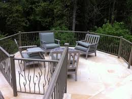 concrete patio with railings modern