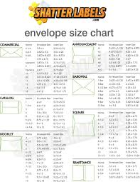 American Envelope Size Chart Shatter Labels Envelope Size Chart