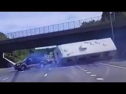 Camper Flips Over on Highway - YouTube