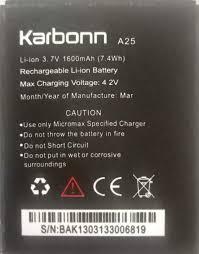 karbonn A25 Mobile battery1600mAh ...
