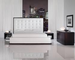 modloft ludlow  piece platform bedroom set in wenge and white
