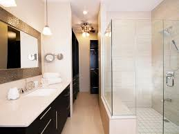 white contemporary bathroom with large glass enclosed shower