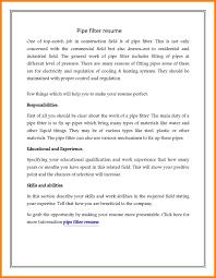 10 Pipefitter Resume Samples Address Example