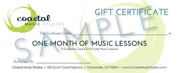 Guitar Lesson Gift Certificate Template Music Gift Certificate Template Drabble Info