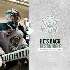HE'S BACK // Dustin Wolf Re-assigned from Calgary (NHL) – Everett Silvertips