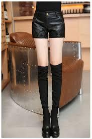 vml women shorts pu black womens shorts printing leather shorts y mini shorts lace embroidery