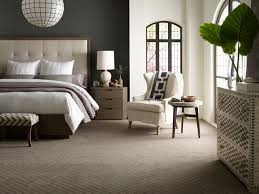 minimalist carpeted bedroom photo in atlanta with gray walls