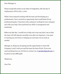 Free Letter Of Resignation Templates New Resignation Letter Doc