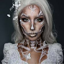 white and pearl skeleton makeup for pretty ideas