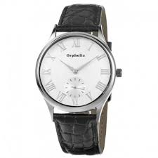 orphelia men s analogue watch wdoor299 orphelia mens watch silver black leather band