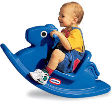 rocking horse  primary blue at little tikes