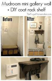 Diy Wall Mounted Coat Rack With Shelf Diy Coat Rack Wall How To Make A Wall Mounted Coat Rack Wall Mounted 62