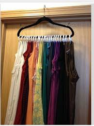 shower curtains rings and a velvet hanger tank top space saver