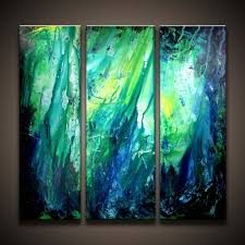 original contemporary painting abstract art hottest fire triplet