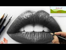 how to draw realistic lips drawing