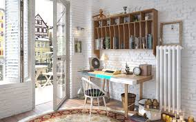 cool vintage furniture. Creative Of Vintage Desk Ideas Apartments Cool Study Room With Wooden Furniture U