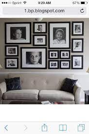 photo arrangements on wall