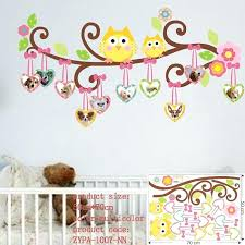 owl wall art stickers owl wall stickers for kids room decorations animal decals bedroom nursery removable