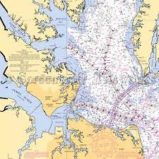 Chesapeake Bay Maps Charts Virginia Hayes Virginia Beach Chesapeake Bay Nautical Chart Decor