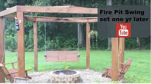 5 Swing Fire Pit Fire Pit Swing A Year Later Youtube