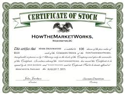 Example Of Share Certificate Amazing What Is A Stock