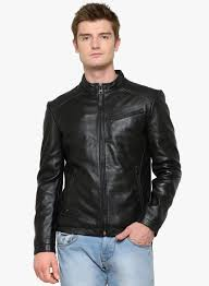 justanned black solid leather jacket for men india best s reviews ju851ma80fbcindfas