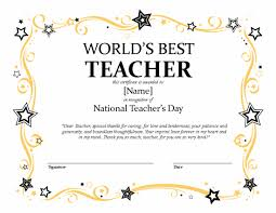 Microsoft Award Templates National Teachers Day Certificate Microsoft Publisher