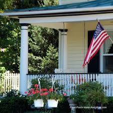 Porch Design Ideas Curb Appealing Country Porch With American Flag